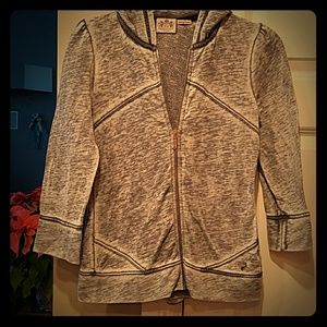 JUICY COUTURE MADE N USA RUFFLE BACK JACKET